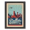 Americanflat Dalla 2 Framed Vintage Advertisement