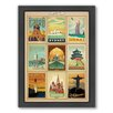 Americanflat World Travel Multi 2 Framed Vintage Advertisement