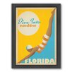 Americanflat Dive Into Florida Framed Vintage Advertisement