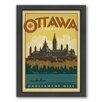 Americanflat World Travel Ottawa Framed Vintage Advertisement