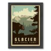 Americanflat National Park Glacier Framed Vintage Advertisement