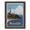 Americanflat Montauk Long Island Framed Vintage Advertisement
