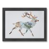 Americanflat Swamp Deer Woodland Framed Graphic Art