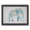 Americanflat Elephant Woodland Framed Graphic Art