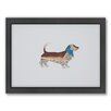 Americanflat Basset Hound Woodland Framed Graphic Art