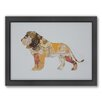 Americanflat Lion Woodland Framed Graphic Art