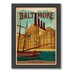 Americanflat Baltimore Maryland Framed Vintage Advertisement