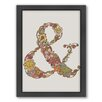 Americanflat Ampersand Framed Graphic Art