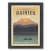 Americanflat National Park Mt.Ranier Framed Vintage Advertisement
