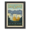 Americanflat Salt Lake City Framed Vintage Advertisement