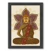 Americanflat Sitting Buddha Framed Graphic Art