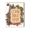 Americanflat Comb Your Hair Framed Graphic Art