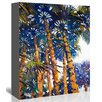 Americanflat Palms Painting Print on Gallery Wrapped Canvas