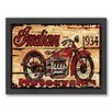 Americanflat Motorcycle Framed Graphic Art