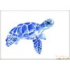 Americanflat Tortoise 2 by Suren Nersisyan Painting Print in Blue