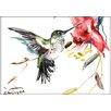 Americanflat Whimsical Hummingbird by Suren Nersisyan Painting Print
