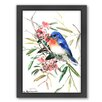 Americanflat Bird by Suren Nersisyan Framed Painting Print in Blue