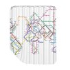 Americanflat City Map 2 Shower Curtain