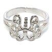 Jewelryweb Sterling Silver Butterfly Toe Ring