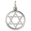 <strong>Jewelryweb</strong> 14k White Gold Star Of David Pendant13.25