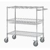 "Excel Hardware 40"" Four Shelf Heavy Duty Commercial Grade Shelving Cart"