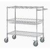 "Excel Hardware 40"" Three Shelf Heavy Duty Commercial Grade Shelving Cart"