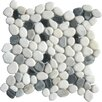 MS International Pebbles Mesh Mounted Random Sized Natural Stone Tumbled Mosaic in Black and White