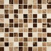 "MS International Ibiza Blend Mesh Mounted 1"" x 1""  Glass and Natural Stone Glossy and Polished Mosaic"
