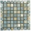"<strong>MS International</strong> 1"" x 1"" Tumbled Slate Mosaic in Gold Green"