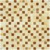 "MS International 5/8"" x 5/8"" Glass Tumbled Glossy Mosaic in Honey Ripple Blend"
