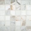 "<strong>MS International</strong> SAMPLE - Pietra Calacatta 2"" x 2"" Porcelain Polished Floor and Wall Mosaic Tile in High Gloss"