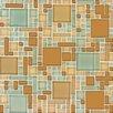 MS International Magic Blend Mesh Mounted Random Sized Glass Glossy Mosaic in Mocha Cream