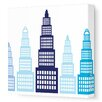 Avalisa Imaginations Skyscraper Stretched Canvas Art