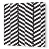 <strong>Avalisa</strong> Pattern Herringbone Stretched Canvas Art