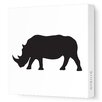 <strong>Avalisa</strong> Silhouettes Rhino Stretched Canvas Art