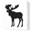 <strong>Silhouettes Moose Stretched Canvas Art</strong> by Avalisa