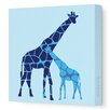<strong>Animals Reticulated Giraffe Stretched Canvas Art</strong> by Avalisa