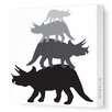 Avalisa Animals Tri Tower Stretched Canvas Art