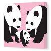 <strong>Avalisa</strong> Animals Three Pandas Stretched Canvas Art