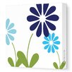 <strong>Imaginations Simple Floral Stretched Canvas Art</strong> by Avalisa