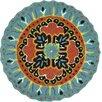Loloi Rugs Gardenia Teal/Black Geometric Area Rug