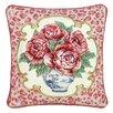 123 Creations Rose Leopard Print 100% Wool Needlepoint Pillow