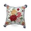 123 Creations Mandarin Garden - Rose 100% Wool Needlepoint Pillow