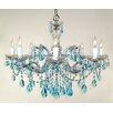 Classic Lighting Rialto 8 Light Crystal Chandelier