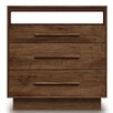 Copeland Furniture Moduluxe 3 Drawer Dresser with Media Oranizer
