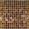 "Bronze/Gold Monocolor 13"" x 13"" Glass Mosaic in Marrone Monocolor Bronze"