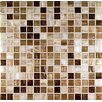 "13"" x 13"" Glass Mosaic in Mix Gold"
