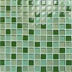 <strong>Casa Italia</strong> Crystal-A Glass Mosaic in Mix Green Gloss