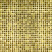 "Crystal-A 11.75"" x 11.75"" Glass Mosaic in Trasparenze Oro"