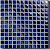 "Metallica 11.75"" x 11.75"" Glass Mosaic in Mix Metallica Blue"